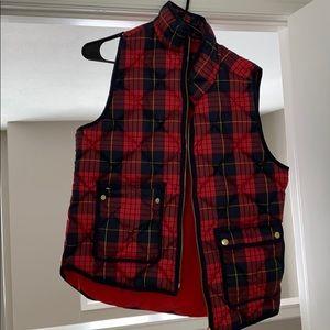 JCrew Flannel Vest